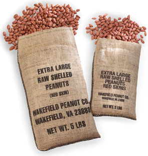 RAW SHELLED EXTRA LARGE AND SUPER EXTRA LARGE REDSKIN PEANUTS
